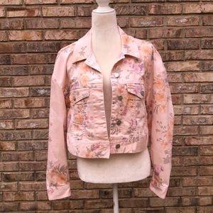 Sanctuary Wish Garden Girl floral denim jacket, S